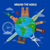 Traveling Around the World Banner Royalty Free Stock Photo