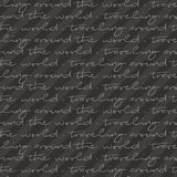 Traveling around the world text pattern. royalty free illustration