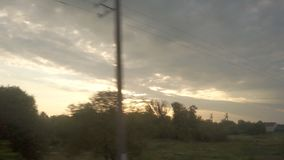 Traveling as Fast Train. Window View from Train. Traveling train going really fast stock video