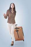 Traveling Asian woman Royalty Free Stock Photography