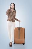 Traveling Asian woman Stock Images