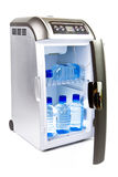 Traveling automobile refrigerator Royalty Free Stock Photo