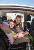 Traveling with baby by car Stock Photo