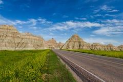 Traveling the Badlands, South Dakota Stock Image