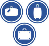 Traveling bags and suitcases - Vector icons Stock Image