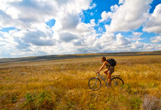 Traveling with bike Royalty Free Stock Image