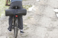 Traveling by bike. On the road Stock Photography
