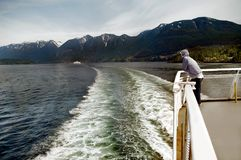 B C Ferries. Summer tourist trip to Vancouver Island  Canada . Scenic view of the Canadian Rockies in British Columbia Stock Photos