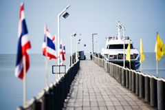 Traveling Boat. Is waiting for travelers who want to go to an island stock photography