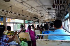 Traveling by bus in Srí Lanka Royalty Free Stock Images