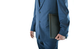 Traveling business man. Standing with a portfolio or candidate going for interview Royalty Free Stock Photography
