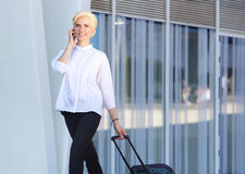 Traveling business woman Stock Photography