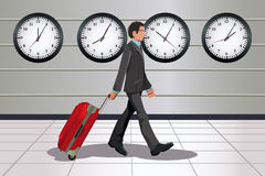 Traveling businessman Stock Photos
