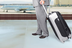 Traveling Businessman  in the Airport Stock Image