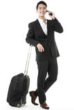 The traveling businessman Royalty Free Stock Photos