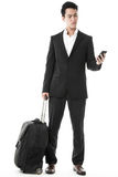 The traveling businessman Royalty Free Stock Image