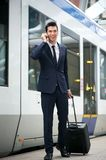 Traveling businessman Royalty Free Stock Photography