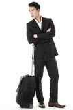 The traveling businessman Stock Photography