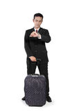 Traveling businessman waiting Stock Photography