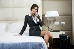 Traveling Businesswoman Royalty Free Stock Photography