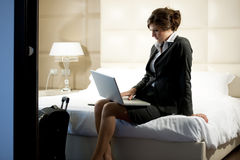 Traveling Businesswoman Royalty Free Stock Images