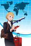 Traveling businesswoman royalty free stock photos