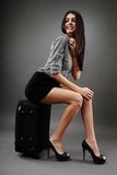 Traveling businesswoman Royalty Free Stock Photos