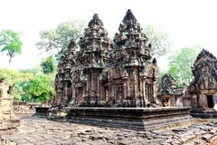 Traveling in Cambodia. Visiting the ancient temple Royalty Free Stock Photography