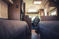Traveling in the Camper Van stock images