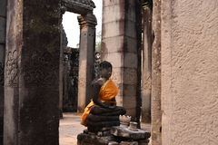 Traveling in Canbodia. Traveling in Cambodia visiting the ancient temple Stock Image