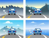 Traveling in a car Royalty Free Stock Images