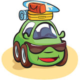 Traveling Car Cartoon Vector Royalty Free Stock Photo