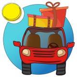 Traveling car stock illustration