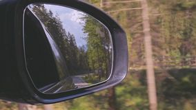 Traveling by car. Motion. Car on the road. Travel. View from the car window stock video footage