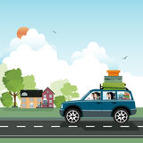 Traveling by car. Royalty Free Stock Image
