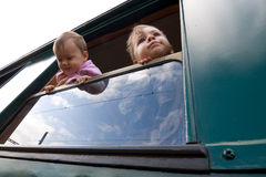 Traveling Children Royalty Free Stock Images