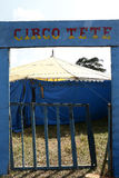 Traveling circus entrance in the countryside of the Brazil Stock Photo