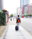 young man with luggage  Royalty Free Stock Photo