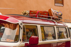 Traveling on classic cars Stock Images