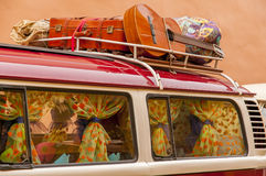 Traveling on classic cars Royalty Free Stock Image