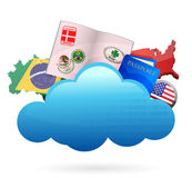 Traveling Cloud computing concept Royalty Free Stock Images
