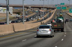 Traveling Colorado busy highways Stock Photo
