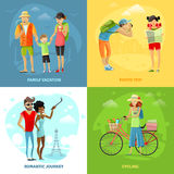 Traveling Concept Icons Set Stock Images