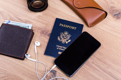 Traveling concept smart phone Royalty Free Stock Photo