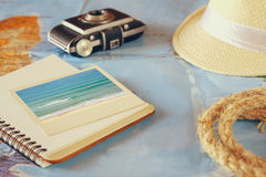 Traveling concept. vintage filtered and toned Stock Photography