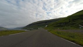 Traveling in the countryside. Of the Faroe Islands stock video