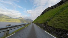 Traveling in the countryside. Of the Faroe Islands stock video footage