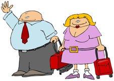Traveling Couple stock illustration
