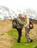 Traveling couple Stock Photography