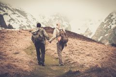 Traveling couple Royalty Free Stock Images